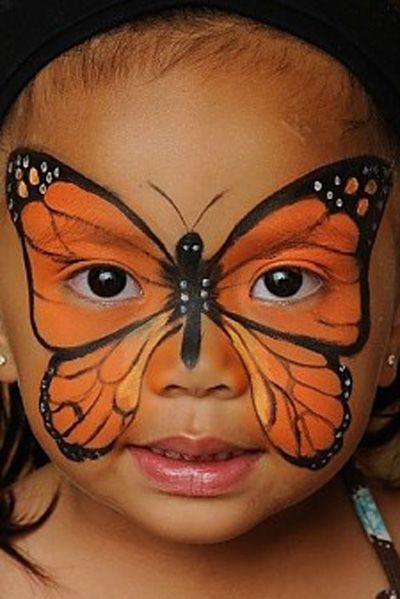 Trucco del viso per Carnevale per bambini da farfalla