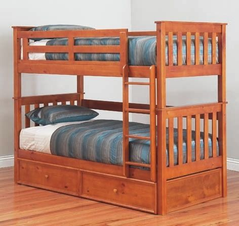 Forte King Single Bunk Bed, Bunk Beds