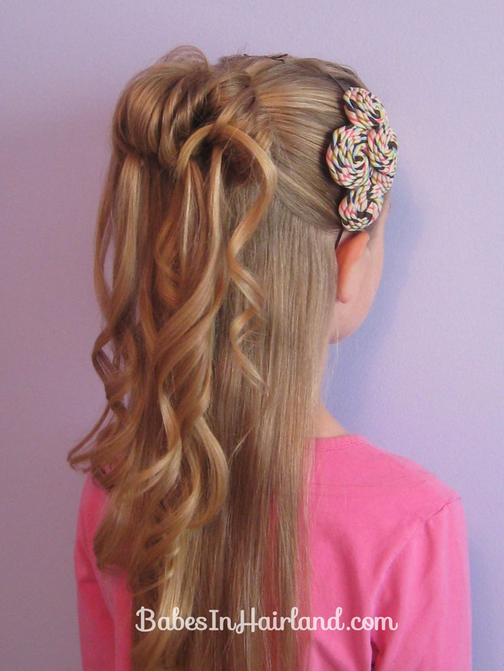 Cascading Messy Bun from BabesInHairland.com