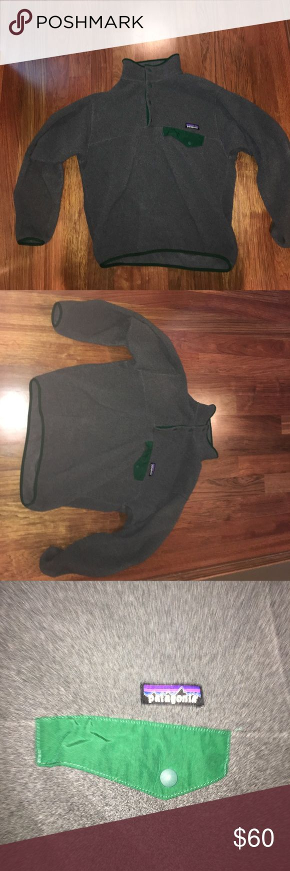 Patagonia Fleece Pullover Men's Patagonia Grey/Green Fleece pullover size small barely worn Patagonia Jackets & Coats Lightweight & Shirt Jackets
