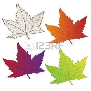 Resultado de imagen para dibujos de hojas de otoño a color