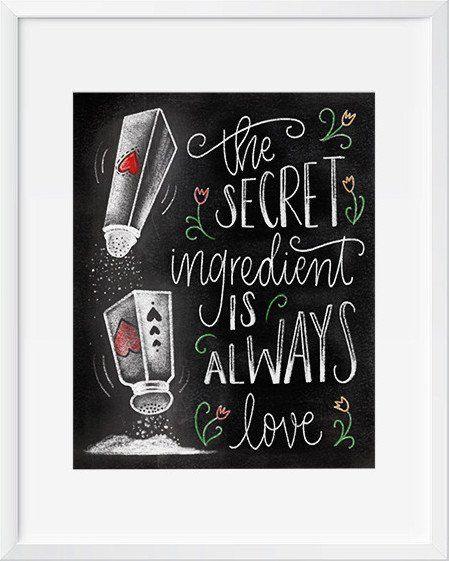 The Secret Ingredient is Always Love Chalkboard Art