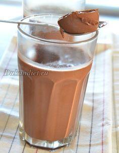 Десерт «Мулатка» | Диета Дюкана 200 г натурального йогурта.200 мл молока,, 2 ст. л. какао, 2 ст. л. желатина, сахзам.