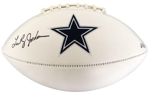 Lee Roy Jordan Signed Dallas Cowboys Logo Football Beckett+SI BAS