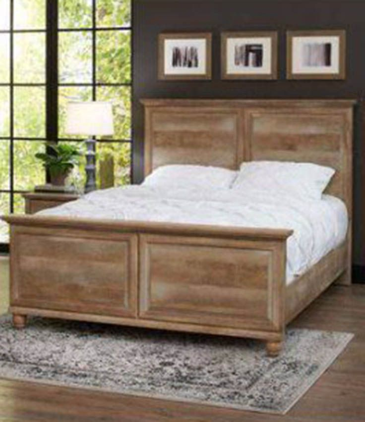 better homes and gardens crossmill queen bed weathered finish - Home Beds Furniture