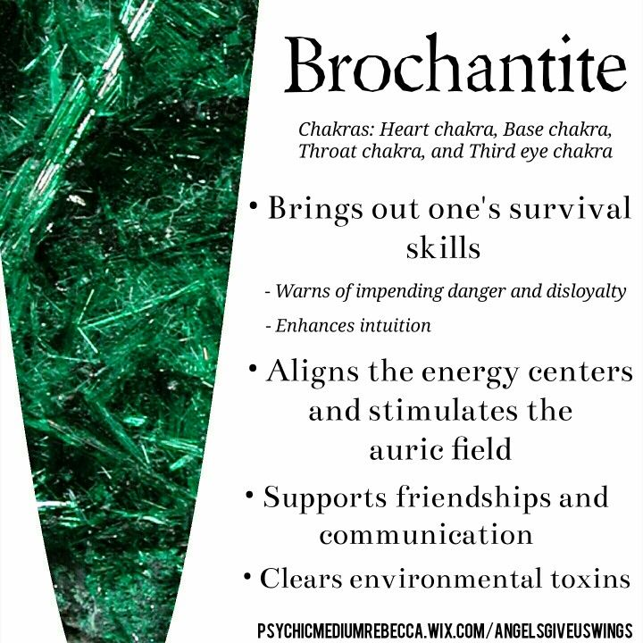 Brochantite crystal meaning
