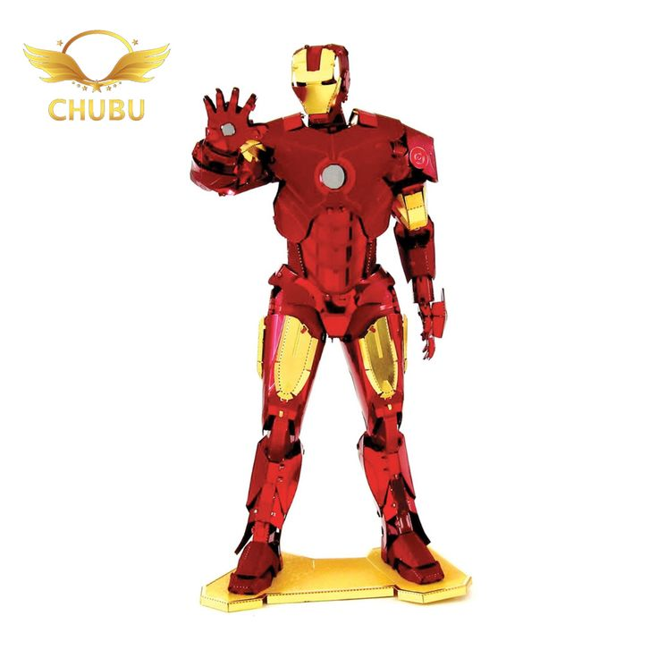 Iron Man Jigsaw Puzzle Stainless Steel Robot Model 3D Metal model Etchingpuzzles new styles 3D Nano Metal Puzzle