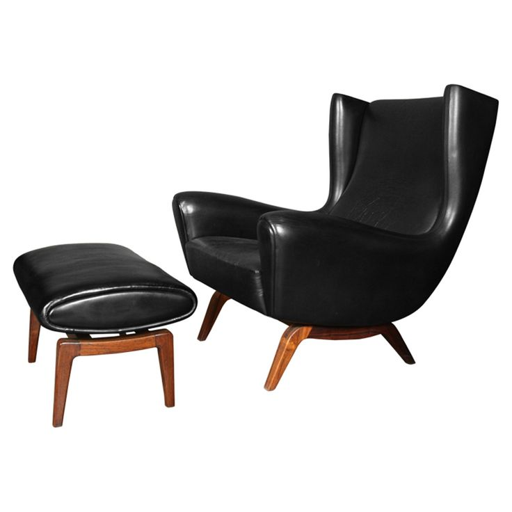 Best 25 Leather chair with ottoman ideas on Pinterest Modern