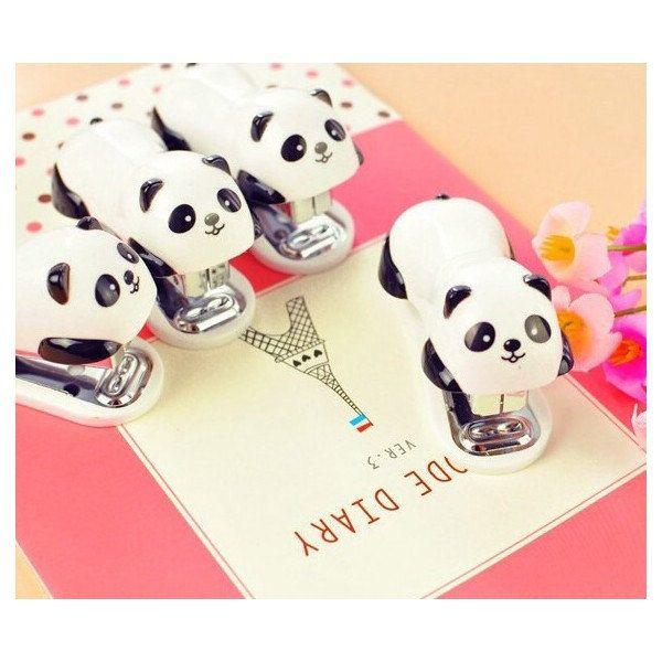 Mini agrafeuse PANDA  avec son paquet d'agrafes n10 de la boutique SweetLittleHarmony sur Etsy