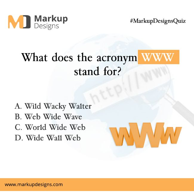 Stand Designs Quiz : Markupdesigns quiz what does the acronym stand for