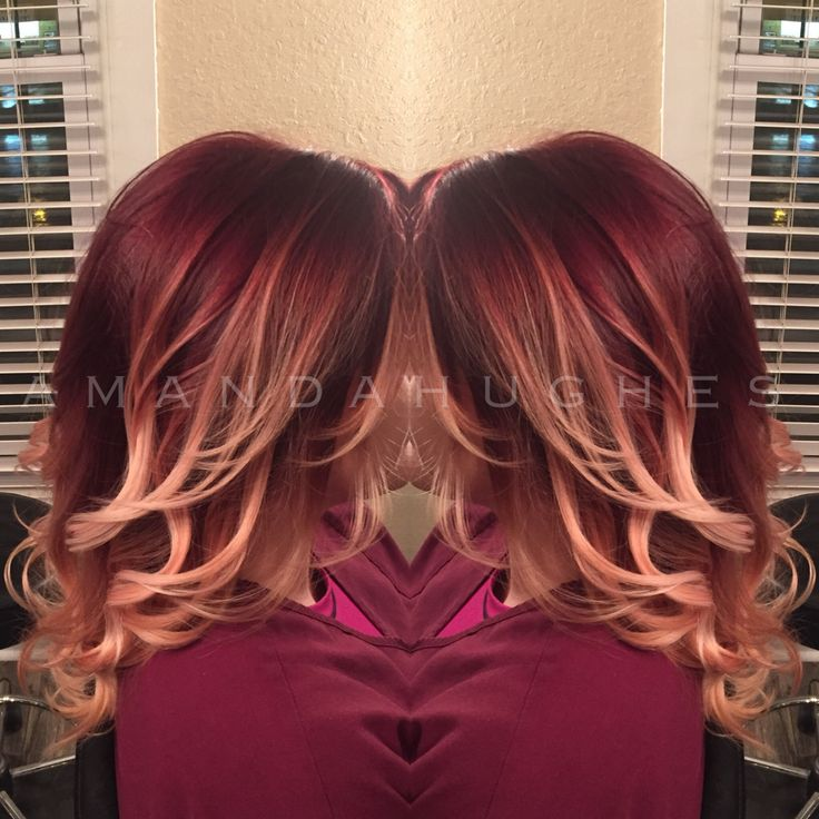 Beautiful Burgundy Ombre Joico Redombre Hair By Amanda