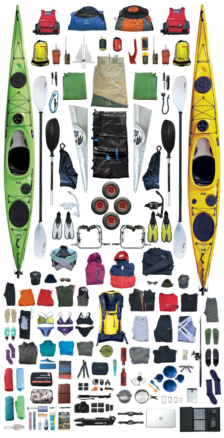 Kayak Packing List for the shores of Queensland