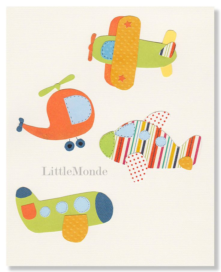 Baby Boy Nursery Art, Transportation Nursery Prints, Airplane Nursery Prints, Toddler Boy Art, Nursery Art Print, Blue Nursery. $16.00, via Etsy.