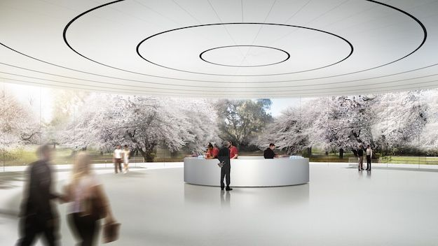 Apple has a sneak peak of its spaceship campus, which they plan to hold all their product launches in the near future. The building looks to provide sustainable architecture to the public. It is well crafted.  www.doyledickersonterrazzo.com
