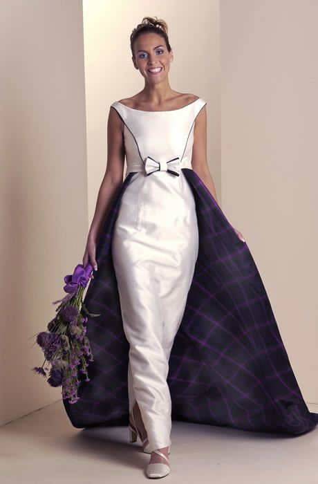 104 best images about tartan wedding ideas on pinterest for Scottish wedding dresses with tartan