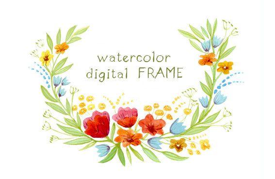 watercolor flowers clip art - Google Search