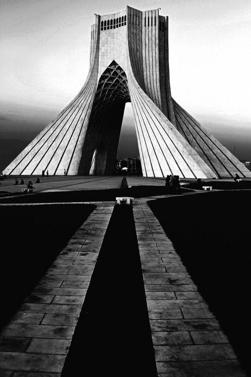 azadi tower, Tehran, Iran by King Nima  Architect: Hossein Amanat