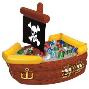 Inflatable: NEW Pirate Ship Inflatable Cooler - 104cm excellent for a kids pirate party £32.00
