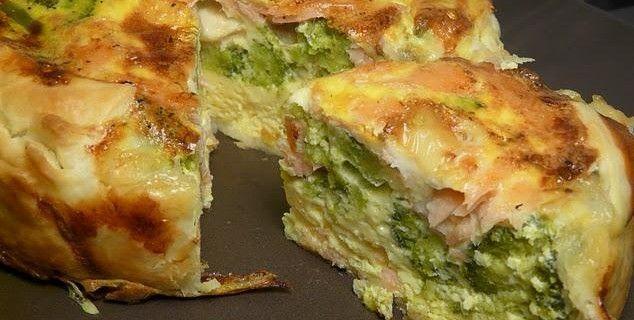 Torta salata di broccoletti, gorgonzola e mortadella | Stasera tutti da Giampa