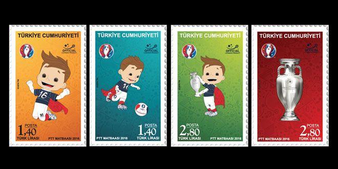 EURO 2016 Stamps Turkey
