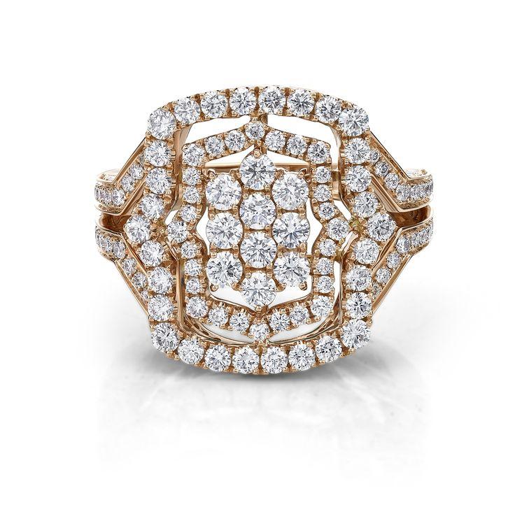 Rose gold diamond dress ring by Diamonds International. #LoveDI #diamond #dress #ring #diamondJewellery #brisbaneJeweller #sparkle #vintage #ring