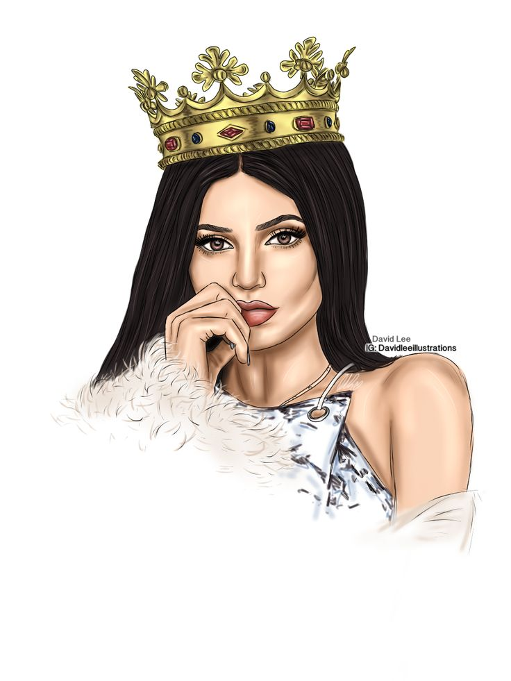 Kylie Jenner by David Lee Illustrations      #KylieJenner #Illustration
