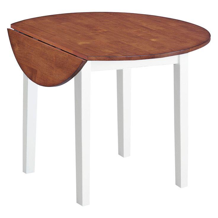 Arlington 42 Drop Leaf Table White And Java Finish Imagio Home