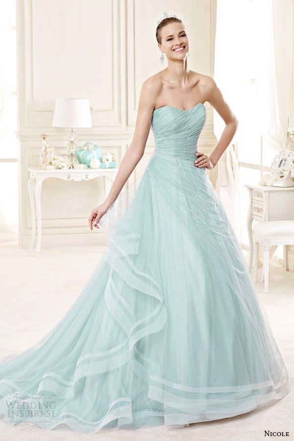 25 best Mint & Light Green Gowns images on Pinterest | Wedding ...