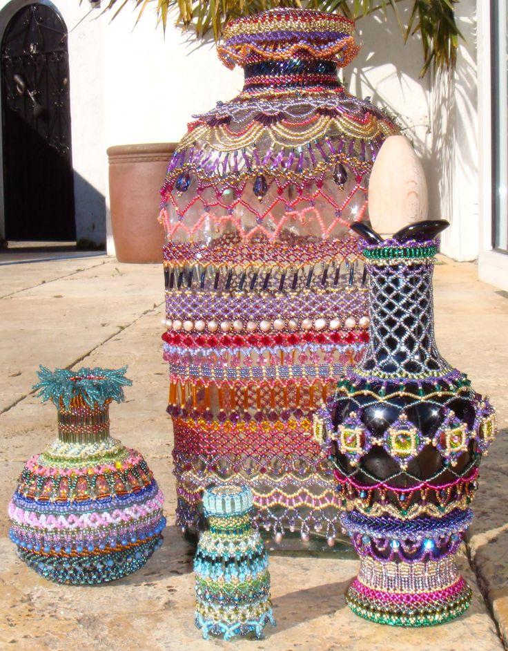 Image detail for -Embellished beaded bottles