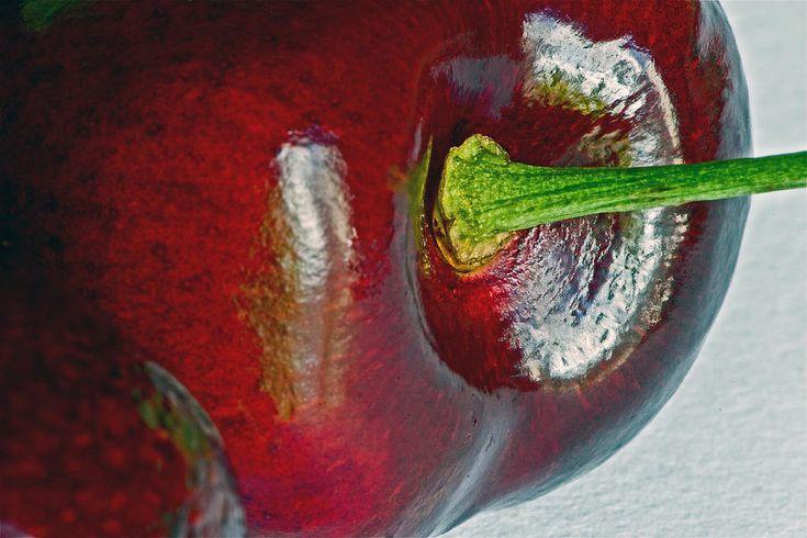 Most viewed macro! Cherry  Photograph  - Cherry  Fine Art Print ~ #phonecases #cherries #macro #photography #fruit #organic :)