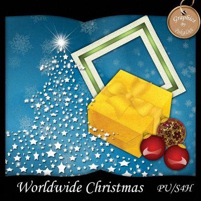 World Wide Christmas Scrapbooking freebie