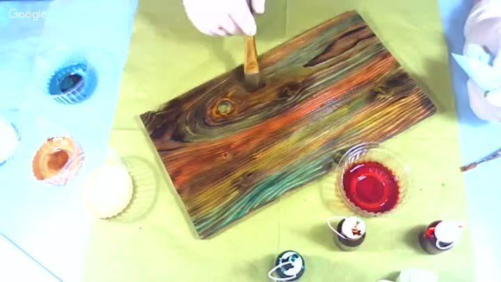 Наталья Блисс. Лёгкий способ цветной тонировки древесины