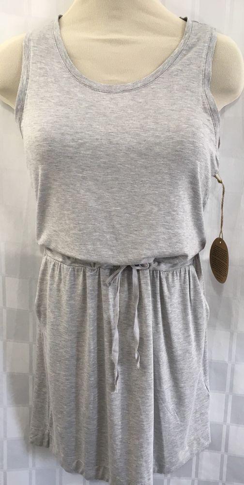 Dakini Athletic Dress M Gray Key Hole Back Drawstring Waist Sleeveless Rayon #DAKINI #AthleticDresses #keyhole