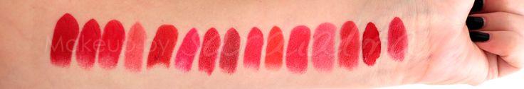 swatches labiales rojos