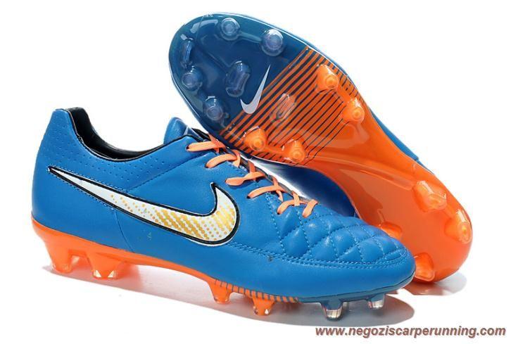 scarpe da calcetto Uomo FG Blu/Arancione Nike Tiempo Legend V