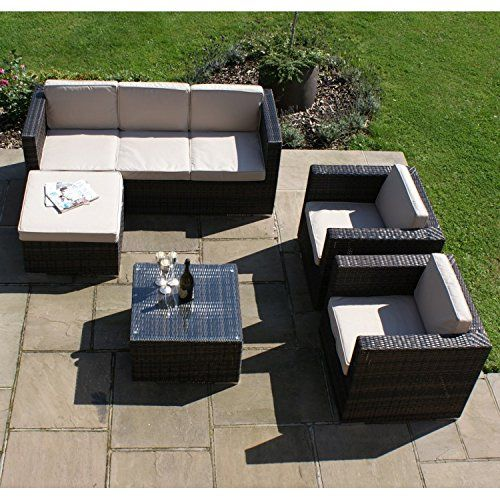 The 25+ best ideas about Gartenbank Rattan on Pinterest Deck - rattan gartenmobel braun