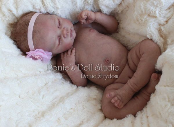*A Romie Baby*Full Bodied solid SILICONE doll sculpted & reborn by Romie Strydom
