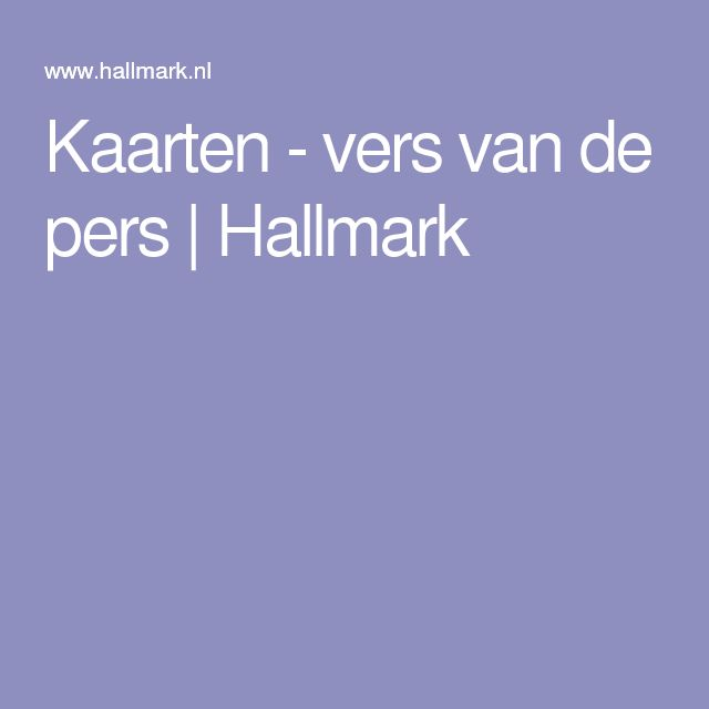 Kaarten - vers van de pers | Hallmark