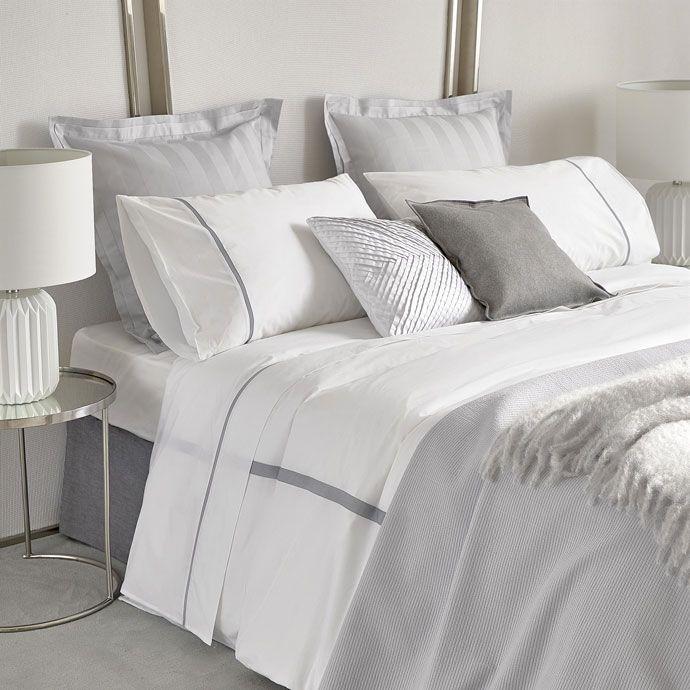 White Duvet Cover With Grey Ribbon Trim Zara Home Australia White Duvet Covers Bed Linen Australia Home