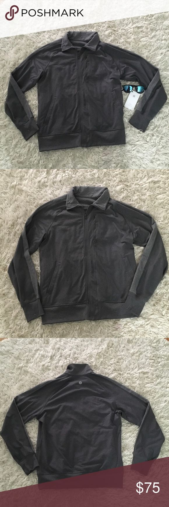Lululemon Men's Kung Full II Jacket Hereingbone This is in excellent condition!  It is stretchy with a medium thickness.  It has two side pockets which can accommodate all of your essentials!  Perfect for any time of the year. lululemon athletica Jackets & Coats