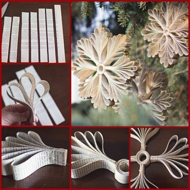M s de 25 ideas incre bles sobre adornos caseros de for Como hacer adornos para navidad