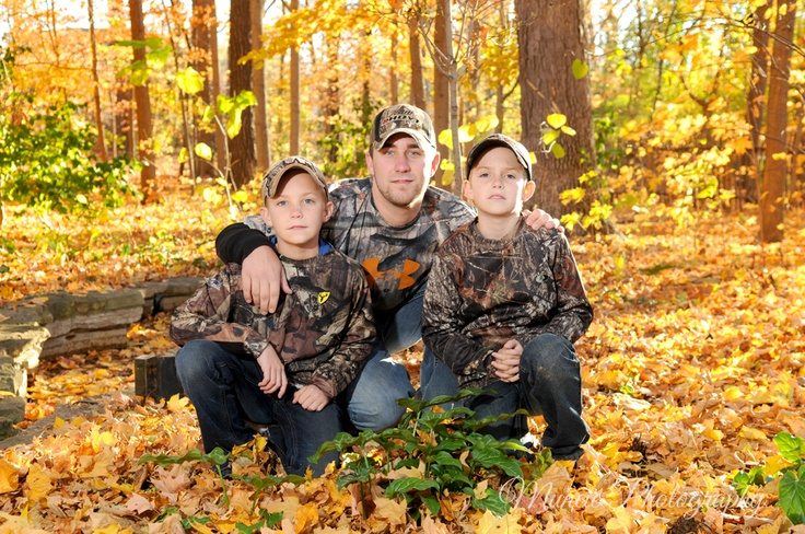 Outdoor family Portrait camo Muncie Photography