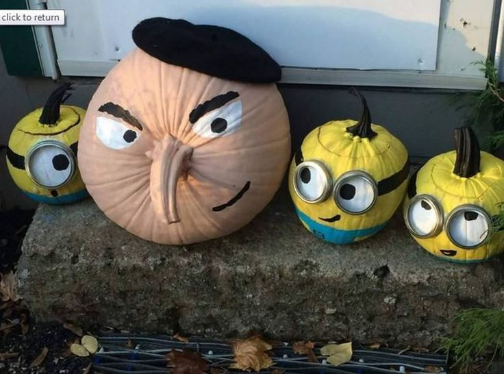 Gru and Minion pumpkins