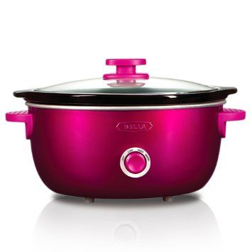 $35 - Amazon.com: BELLA 13746 Dots Collection Slow Cooker, 6-Quart, Pink: Kitchen & Dining