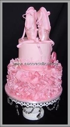 Ballet & Ruffles Pink Cake
