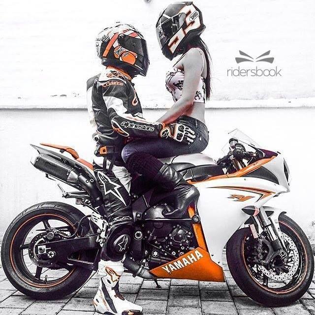 #YamahaYZFR1 Yamaha Motor Company, FIM Superbike World Championship, #Motorcycle #SuperbikeRacing #Couple Yamaha YZF-R6, Love - Follow @extremegentleman for more pics like this!