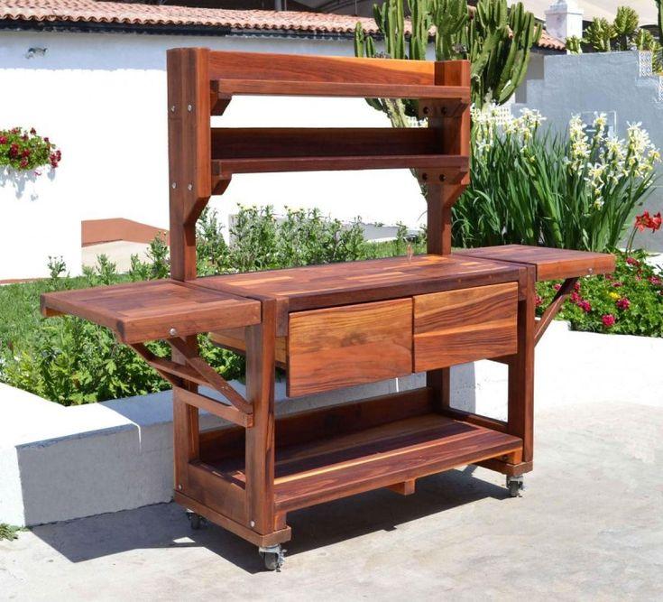 Eli's Redwood Potting Bench by Forever Redwood