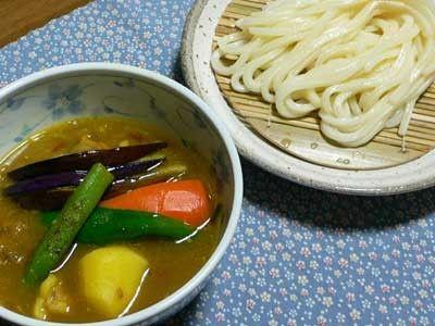 チキンと夏野菜のスープカレーうどん [うどん] All About
