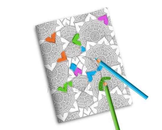 Quaderno da Colorare Rosoni fiorati