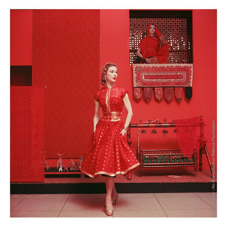 A Sari Inspired Dress like this one at MOMA, New York, 1955